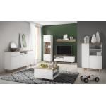 Living Room Furniture Loveli Wall Unit Set White/Sand