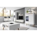 Living Room Furniture Nordi Wall Unit Set White Gloss