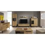 Living Room Furniture Nordi Wall Unit Set Artisan Oak