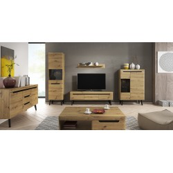 Living Room Furniture Nordi Wall Unit Set Artisan Oak
