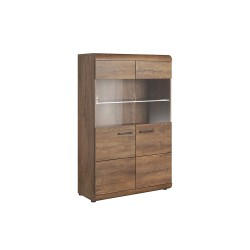 Living Room Furniture Vito Wall Unit Set Oak
