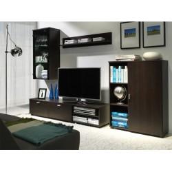 Living Room Furniture Rino Wall Unit Set Chestnut