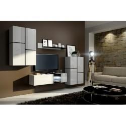 Living Room Furniture Inbox Wall Unit Set White Matte / White Gloss