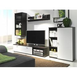 Living Room Furniture Rino Wall Unit Set Chestnut/White matte