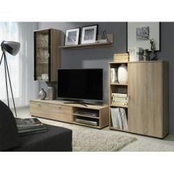 Living Room Furniture Rino Wall Unit Set Light Oak